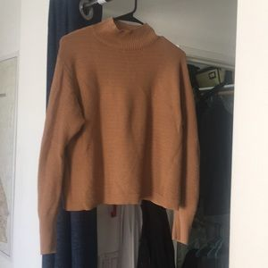 Topshop cropped mock neck sweater